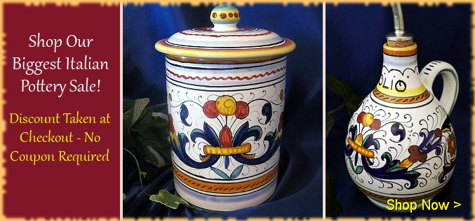Italian Pottery Sale | BellaSoleil.com Italian Pottery and Tuscan Decor Since 1996